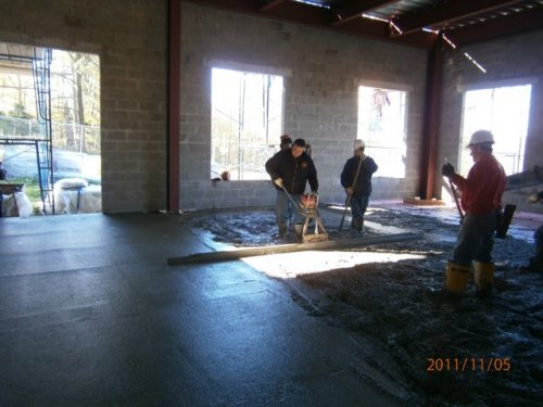 Finishers At Work On Ground Floor