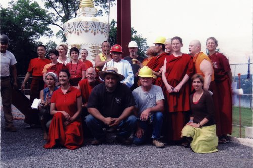 Lama Norlha Rinpoche and Sangha on Site
