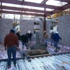 Pouring Concrete For Foyer